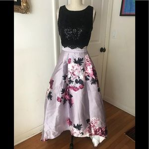 City Triangles two piece gown dress NEW high low 7